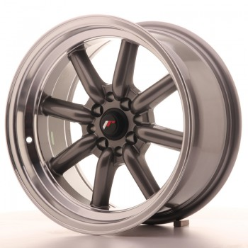 JR Wheels JR19 16x8 ET-20 4x100/114 Gun Metal w/Machined Lip JR19 16