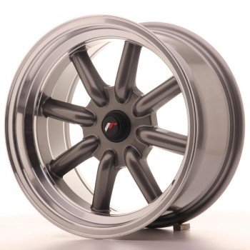 JR Wheels JR19 16x8 ET-20-0 BLANK Gun Metal w/Machined Lip JR19 16