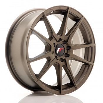 JR Wheels JR21 17x7 ET25 4x100/108 Matt Bronze JR21 17