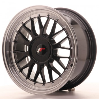 JR Wheels JR23 17x8 ET20-45 BLANK Gloss Black w/Machined Lip JR23 17