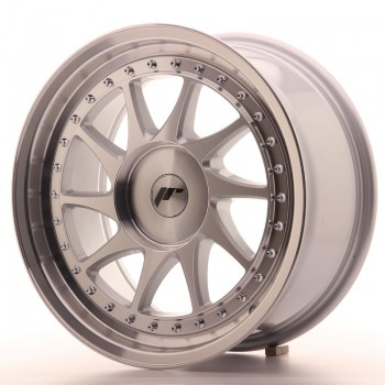 JR Wheels JR26 17x8 ET20-35 BLANK Silver Machined Face JR26 17