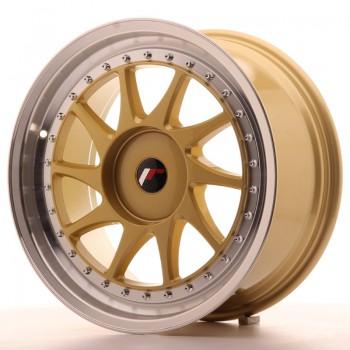 JR Wheels JR26 18x8,5 ET35-40 BLANK Gold w/Machined Lip JR26 18