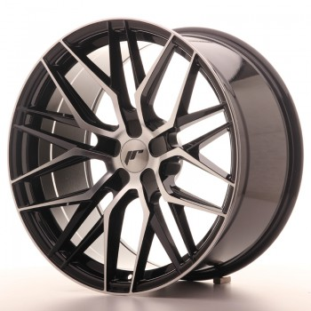JR Wheels JR28 20x10 ET20-40 5H BLANK Gloss Black Machined Face JR28 20
