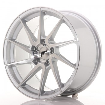 JR Wheels JR36 18x9 ET35 5x120 Silver Brushed Face JR36 18