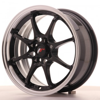 JR Wheels JR5 15x7 ET35 4x100 Gloss Black w/Machined Lip JR5 15