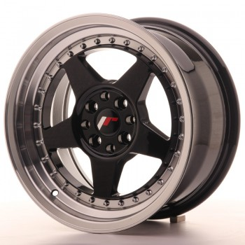 JR Wheels JR6 16x8 ET30 4x100/114 Gloss Black w/Machined JR6 16