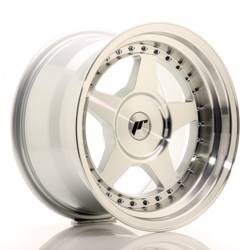 JR Wheels JR6 16x9 ET0-20 BLANK Silver Machined Face JR6 16