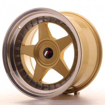 JR Wheels JR6 17x10 ET20 BLANK Gold w/Machined Lip JR6 17