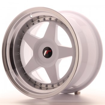 JR Wheels JR6 17x10 ET20 BLANK White w/Machined Lip JR6 17