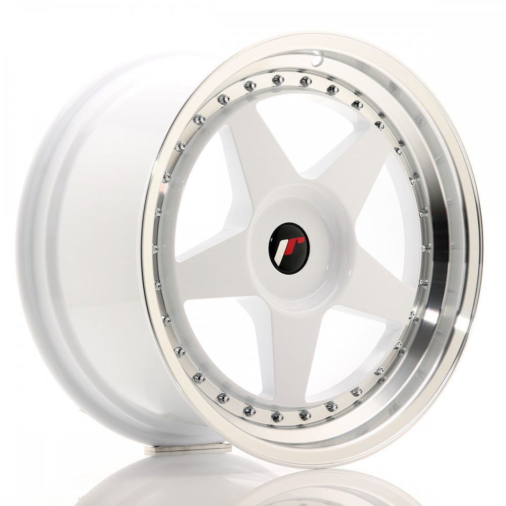 JR Wheels JR6 18x9,5 ET20-40 BLANK White w/Machined Lip JR6 18