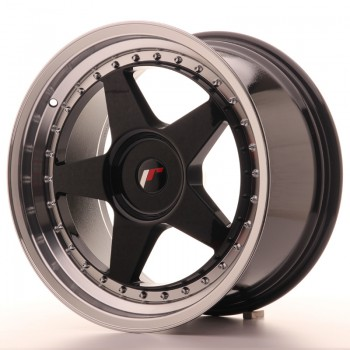JR Wheels JR6 18x9,5 ET35-40 BLANK Gloss Black w/Machined JR6 18