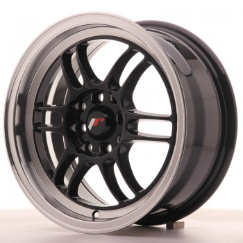JR Wheels JR7 15x7 ET38 4x100/114 Gloss Black w/Machined Lip JR7 15