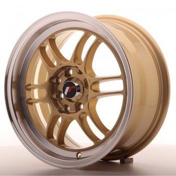 JR Wheels JR7 15x7 ET38 4x100/114 Gold w/Machined Lip JR7 15