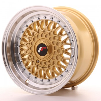 JR Wheels JR9 15x8 ET15 4x100/114 Gold w/Machined Lip JR9 15