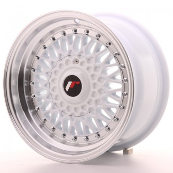 JR Wheels JR9 15x8 ET20 4x100/108 White w/Machined Lip JR9 15