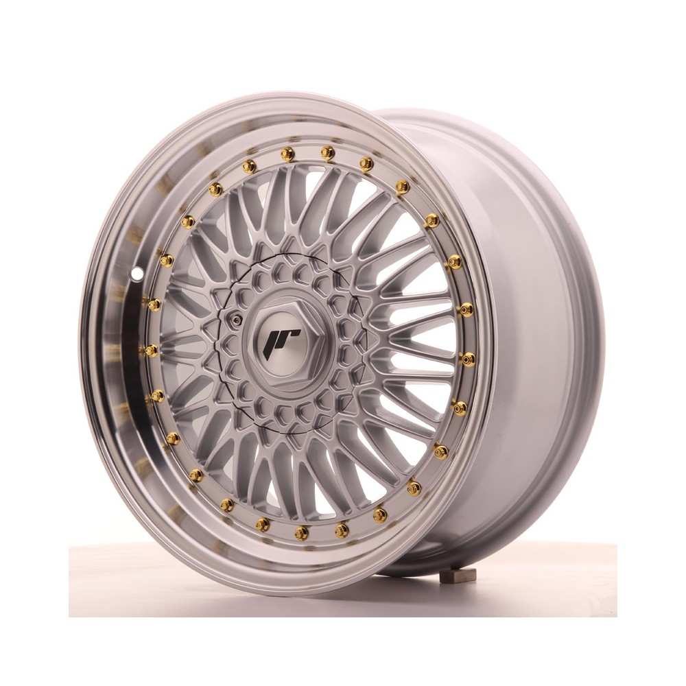 JR Wheels JR9 17x7,5 ET35 4x100/108 Silver w/Machined Lip JR9 17