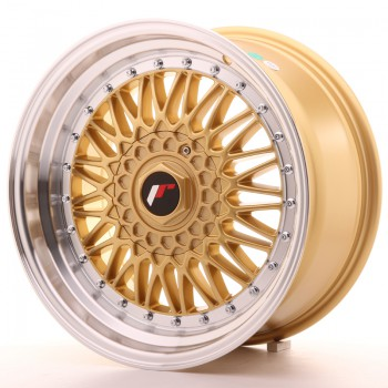 JR Wheels JR9 17x8,5 ET20-35 BLANK Gold w/Machined Lip JR9 17