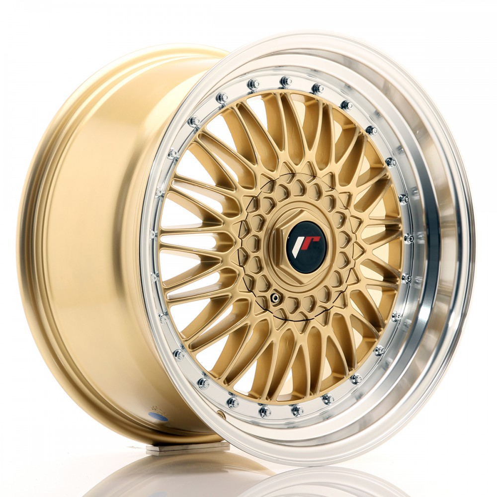 JR Wheels JR9 18x9 ET20-40 BLANK Gold w/Machined Lip JR9 18
