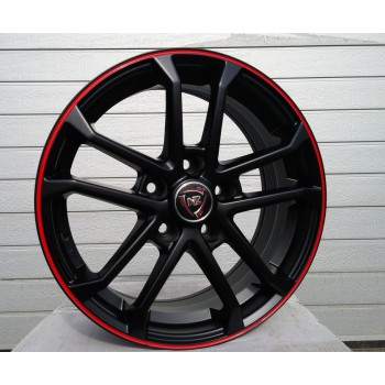 R16X6.5 5X108 ET50 63.3 SH651 Matt Black+Red (MBRS) RWR (Replica price) (VN)