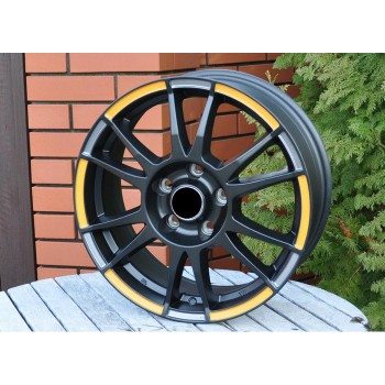 R16X6.5 5X105 ET39 56.6 SH670 Matt Black+gold ring (MBOGS) RWR (AKC 40)(N)