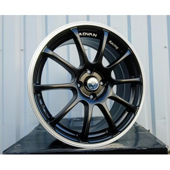 R16X7 10X99/109 ET40 73.1 A182 Black Half matt + polished lip RWR style ADVAN (K6)