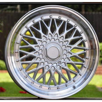 R18X8 10X100/114.3 ET20 73.1 BY479 (XF135) SILVER+polished lip (Front) RWR style BBS (+5 EUR) (K3)