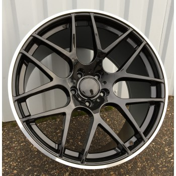 B20X11 5X120 ET37 74.1 FR850 BLACK+polished lip (Rear+Front) RWR  BM(950kg)(K3+P)