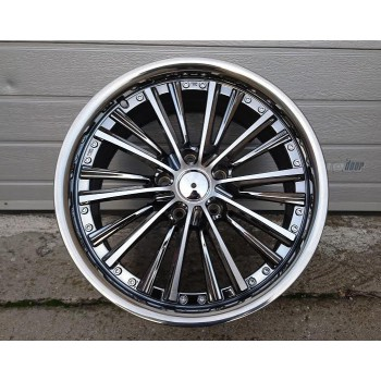 B18X8 5X120 ET35 72.6 F6765 Chrome dark+ machined face + stainless lip (Front+Rear) RWR (AKC 85)(K3)