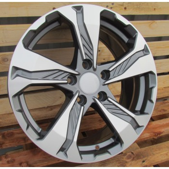 H17X7.5 5X114.3 ET45 64.1 BK5520 MG+Powder Coating RWR  HON (+3eur) (K2)