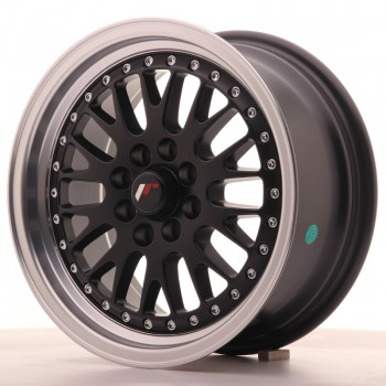 JR Wheels JR10 15x7 ET30 4x100/108 Matt Black w/Machined Lip JR10 15