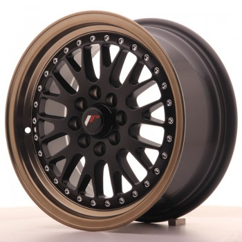 JR Wheels JR10 15x7 ET30 4x100/108 Matt Black w/Anodized Bronze Lip JR10 15