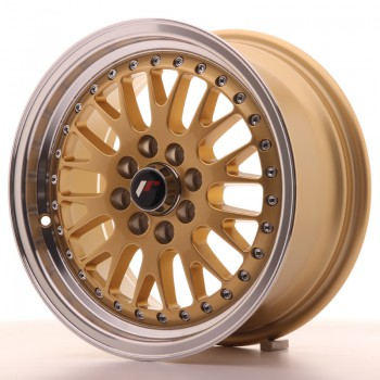 JR Wheels JR10 15x7 ET30 4x100/108 Gold w/Machined Lip JR10 15