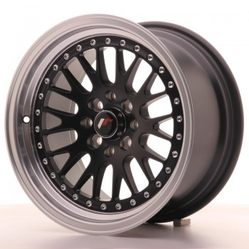 JR Wheels JR10 15x8 ET20 4x100/108 Matt Black w/Machined Lip JR10 15