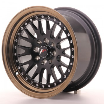 JR Wheels JR10 15x8 ET20 4x100/108 Matt Black w/Anodized Bronze Lip JR10 15