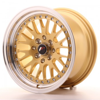 JR Wheels JR10 15x8 ET20 4x100/108 Gold w/Machined Lip JR10 15