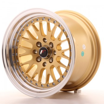 JR Wheels JR10 15x9 ET10 4x100/114 Gold w/Machined Lip JR10 15
