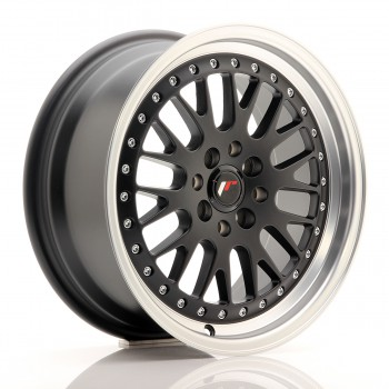 JR Wheels JR10 16x7 ET30 4x100/108 Matt Black w/Machined Lip JR10 16