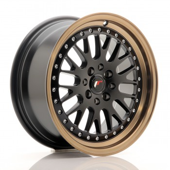JR Wheels JR10 16x7 ET30 4x100/108 Matt Black w/Anodized Bronze Lip JR10 16