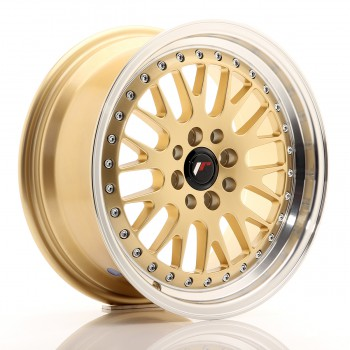 JR Wheels JR10 16x7 ET30 4x100/108 Gold w/Machined Lip JR10 16