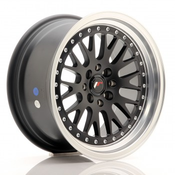 JR Wheels JR10 16x8 ET20 4x100/108 Matt Black w/Machined Lip JR10 16