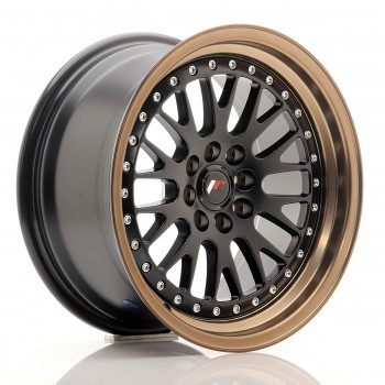 JR Wheels JR10 16x8 ET20 4x100/108 Matt Black w/Anodized Bronze Lip JR10 16