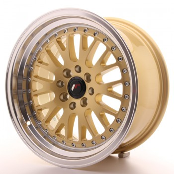 JR Wheels JR10 16x8 ET20 4x100/108 Gold w/Machined Lip JR10 16