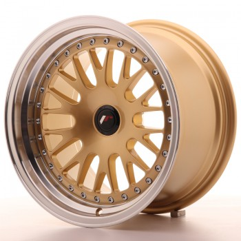 JR Wheels JR10 16x9 ET20 BLANK Gold w/Machined Lip JR10 16