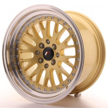 JR Wheels JR10 16x9 ET20 4x100/108 Gold w/Machined Lip JR10 16
