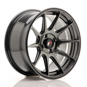 JR Wheels JR11 16x8 ET25 4x100 Dark Hyper Black JR11 16