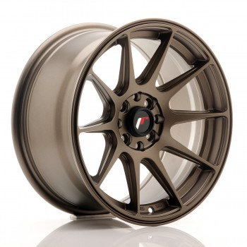 JR Wheels JR11 16x8 ET25 4x100/108 Matt Bronze JR11 16