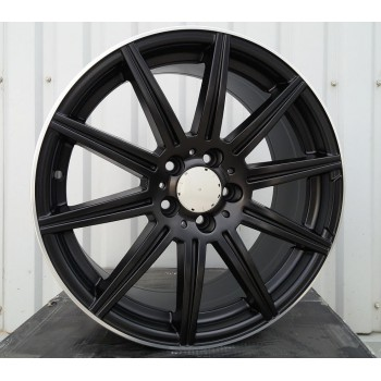 M18X7.5 5X112 ET44 66.6 BY1061 (F1047) Black Half Matt + PL (Rear+Front) RWR  MER (K4)