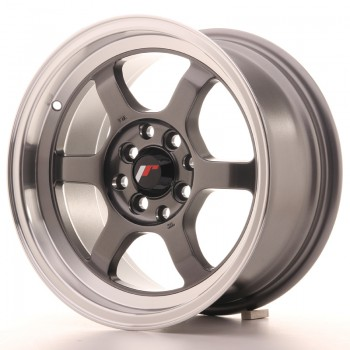 JR Wheels JR12 15x7,5 ET26 4x100/114 Gun Metal w/Machined Lip JR12 15