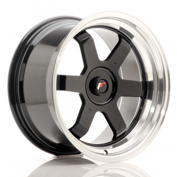 JR Wheels JR12 17x9 ET25 BLANK Gloss Black w/Machined Lip JR12 17