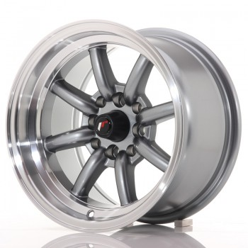 JR Wheels JR19 14x8 ET-13 4x100/114 Gun Metal w/Machined Lip JR19 14